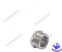 Переходник (футорка) латунный никелированный 1/2х3/4 наружная внутренняя KOER