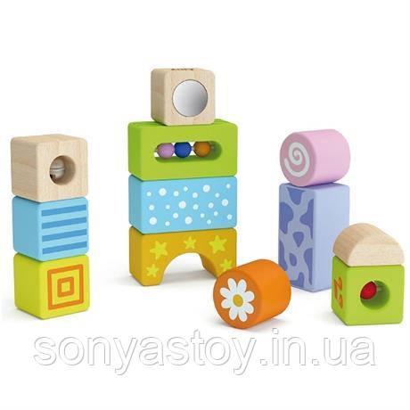"""Набор строительных блоков """"Погремушки"""" со звуком, для самых маленьких, 1+"""