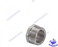 Переходник (футорка) латунный никелированный 3/4х1 наружная внутренняя KOER