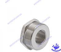 Переходник (футорка) латунный никелированный 3/4х1 1/2 наружная внутренняя KOER