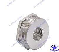 Переходник (футорка) латунный никелированный 3/4х2 наружная внутренняя KOER