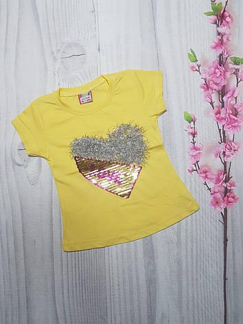 Детская Летняя футболка  для девочки LOVE  1-4 года, фото 2