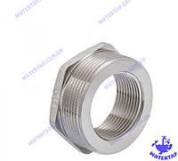 Переходник (футорка) латунный никелированный 1 1/4х2 наружная внутренняя KOER
