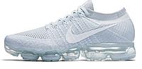 Мужские кроссовки Nike Air VaporMax Flyknit Grey (найк аир вапормакс, серые)