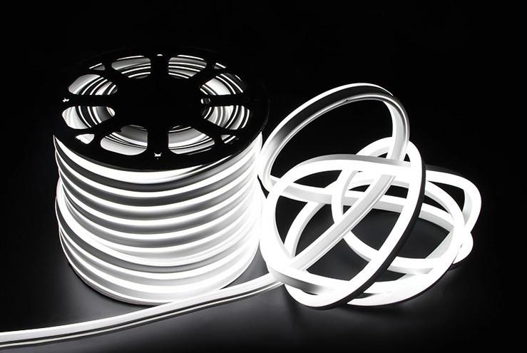 Двусторонняя LED неоновая излучающая лента IP67 220v White