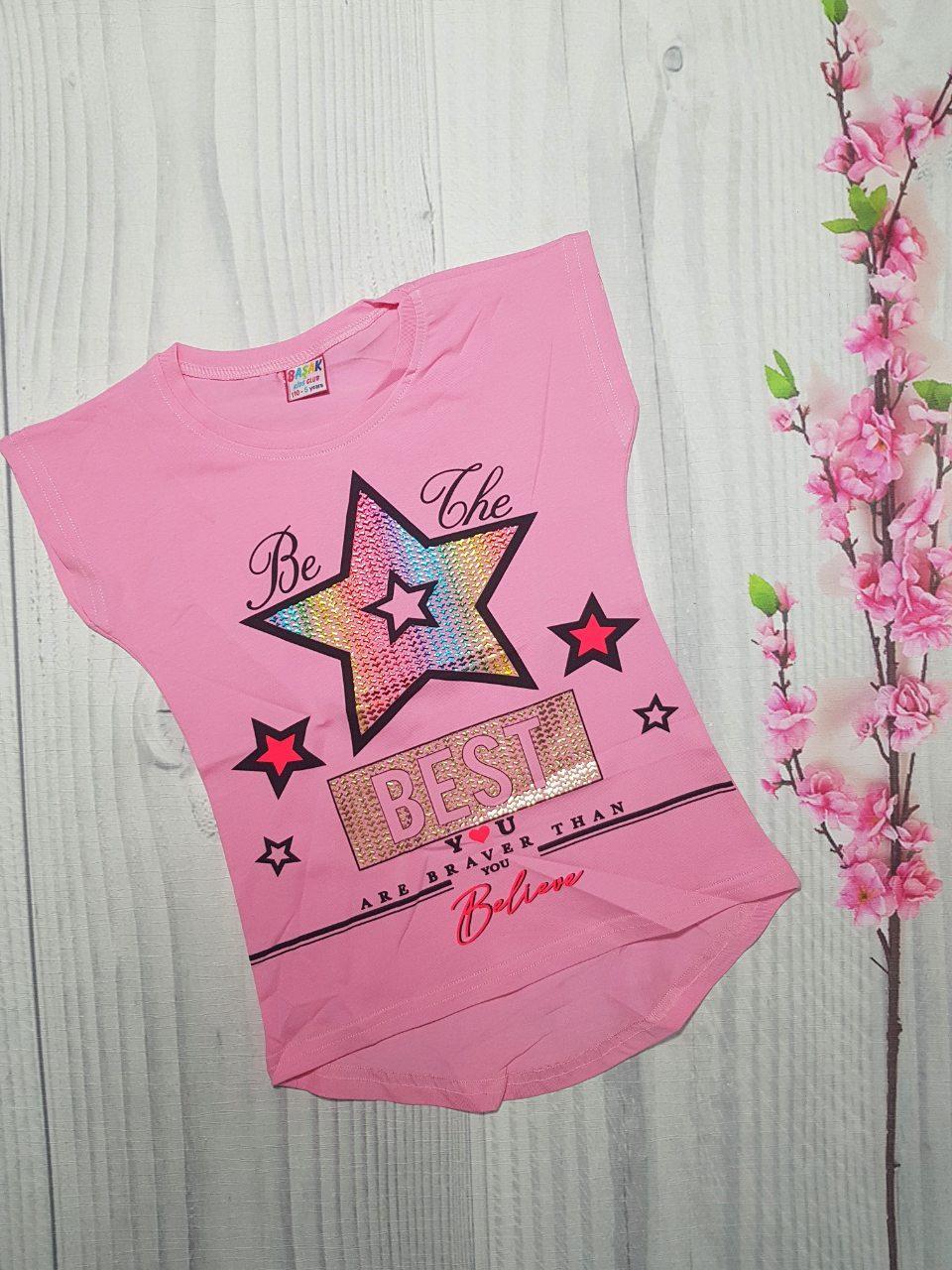 Детская Летняя футболка  для девочки Звезда 5-8 лет