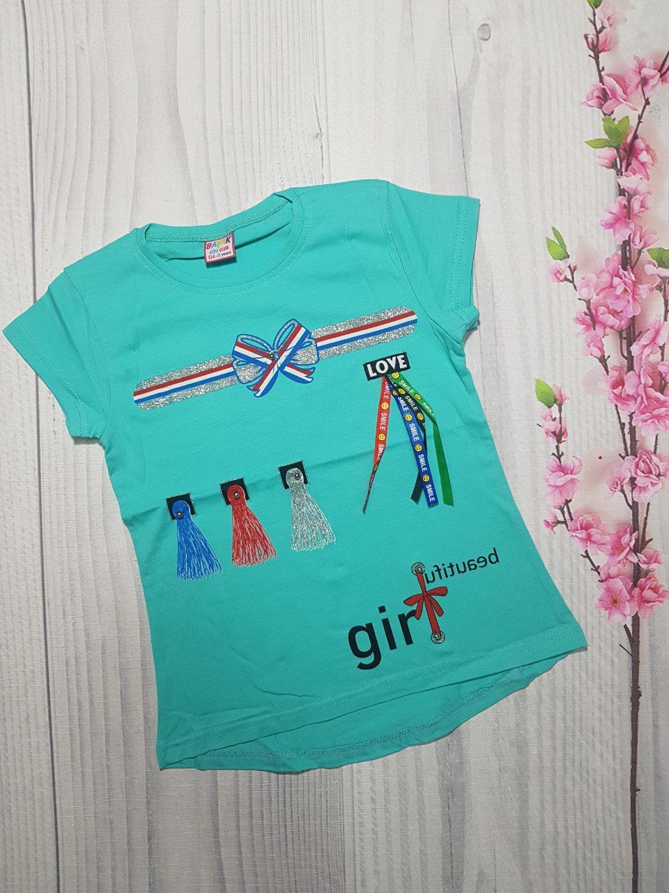 Детская Летняя футболка  для девочки GIRL 9-12 лет