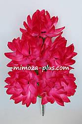Искусственные цветы - Хризантема букет, 56 см