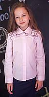 Блузка рубашка для девочки розовая мод.5041, фото 1