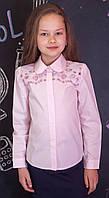 Блузка рубашка для девочки розовая мод.5041/1, фото 1