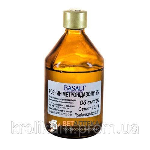 Метронидазол 5 % 100 мл Базальт