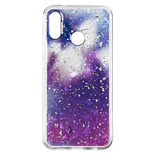 Чехол накладка силиконовый Baseus Light Stone для Huawei Y6 2019 фиолетовый