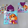 Махровое полотенце-пончо Paw Patrol для девочки