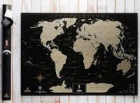 Скретч карта мира My Map Black edition. Gold (Eng)