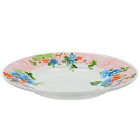 Набор круглых суповых тарелок Stenson Весна 22.9 см 6 шт (MS-2396-5086)