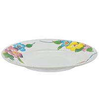 Набор круглых суповых тарелок Stenson Лилия 22.9 см 6 шт (MS-2396-1366)