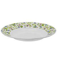Набор круглых суповых тарелок Stenson Прованс 22.9 см 6 шт (MS-2396-0816)