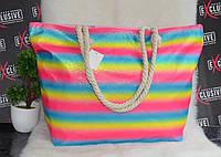 Пляжная сумка с канатными ручками Радуга, фото 1