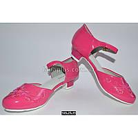 Нарядные туфли для девочки 36 размер (22.8 см), праздничные туфельки на утренник, выпускной, 105-25-11