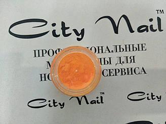 Пігмент для декору нігтів помаранчевий