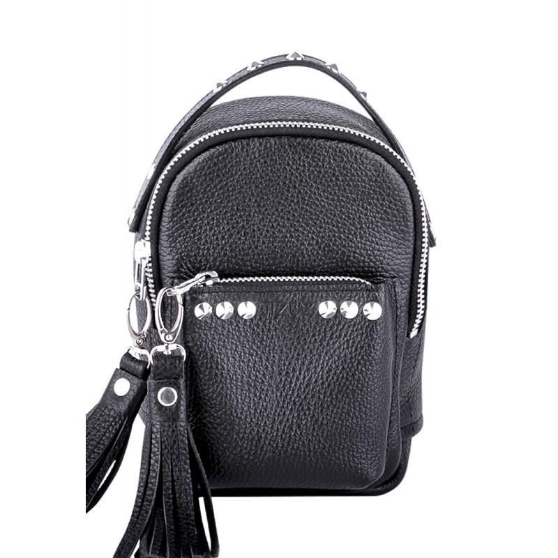 Женский кожаный рюкзак Jizuz Original Scotty OS19147B, черный