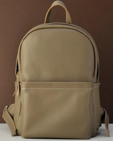 Кожаный рюкзак Jizuz Carbon CN372811BE, бежевый