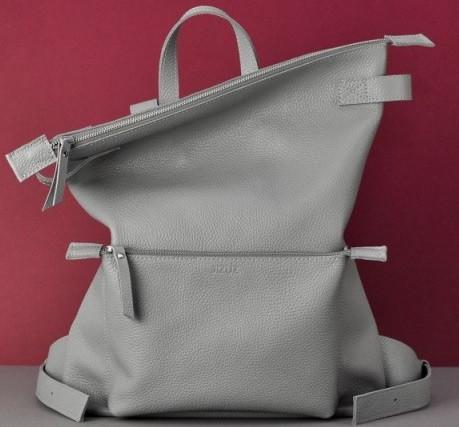 Кожаный рюкзак Jizuz Voyager VG403510G, серый