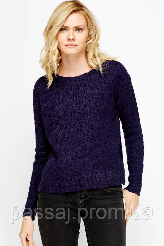 Синий теплый свитер, красивого цвета xs (uk 6-8)