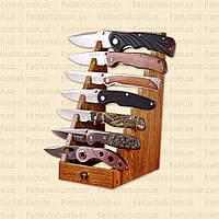 Подставка на 7 ножей деревянная MHR /40-9