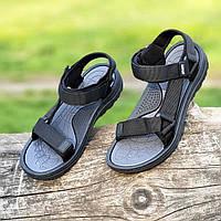 Босоножки сандалии мужские черные на липучках (Код: 1444а), фото 1