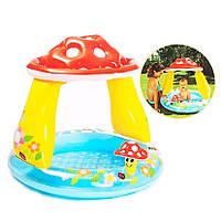 Дитячий надувний басейн Грибочок Intex 57114 з навісом