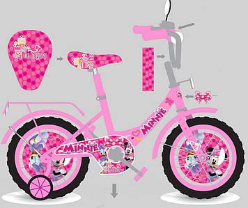 Велосипед 2-х колес 14'' M1405 со звонком,зеркалом, ручной тормоз