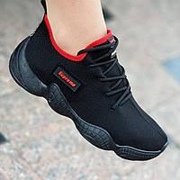 Женские модные кроссовки YEEZY 500 черные (Код: М1449)