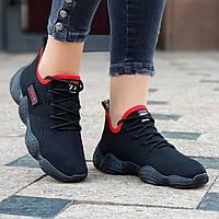 Женские модные кроссовки YEEZY 500 черные (Код: М1449а)