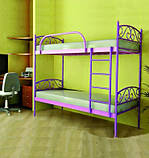 Кровать металлическая Верона Дуо / Verona Duo двухъярусная 80 (Метакам) 860х2080х1730 мм, фото 3