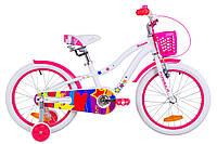"""Велосипед 18"""" Formula CREAM 14G Al с крылом St, с корзиной Pl 2019 (бело-розовый)"""