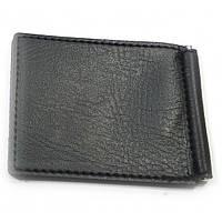 Зажим для денег -бумажник (металл-кожа)