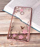 Чехол силиконовый TPU Glaze rose gold для Xiaomi Mi Max 2