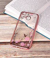 Чехол силиконовый TPU Glaze rose gold для Xiaomi Redmi 4X