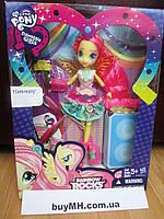 Кукла Флаттершай шарнирная Рок причёска My Little Pony Equestria Girls Rockin' Hairstyle Fluttershy, фото 1