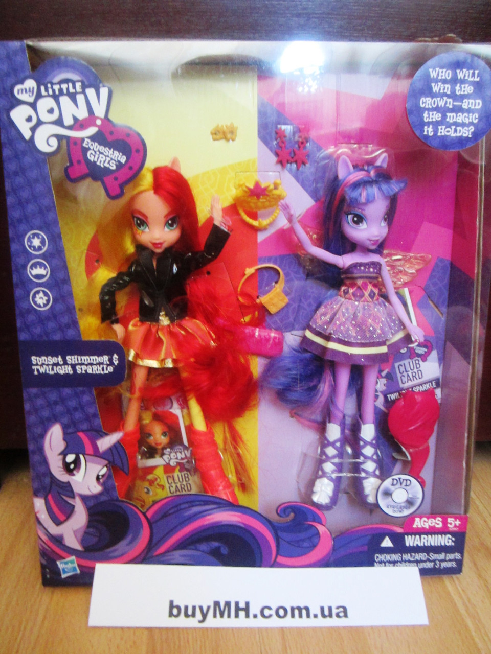 Набор кукол Сансет Шиммер и Твайлайт Спаркл My Little Pony Equestria Girls Sunset Shimmer and Twilight Sparkle, фото 1