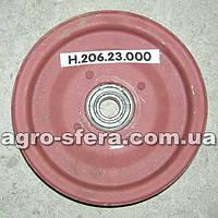 Шкив натяжной привода грохота с подшипником Н.206.23.000 Нива СК-5