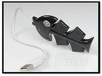USB 2.0 HUB 4 port хаб рыбка fish