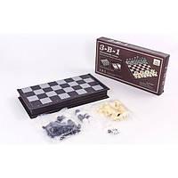 Шахматы, шашки, нарды 3 в 1 дорожные пластиковые магнитные SN-22 (47см x 47см)