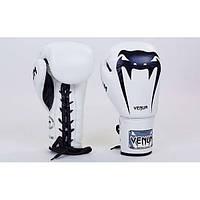 Перчатки боксерские кожаные на шнуровке VENUM GIANT (р-р 10-14oz) BP-34