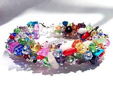 Браслет. Натуральные камни. Микс цветных камней, фото 2