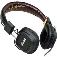 Фирменные аудио-наушники Marshall Major, с кожаной обшивкой, комфортными амбушюрами, качественный звук