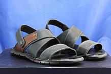 Мужские кожаные сандалии натуральный нубук черные