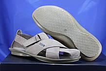 Мужские кожаные светлые сандалии с закрытым носком Bertoni