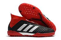 Футбольные сороконожки adidas Predator Tango 18+ TF Core Black/White/Red, фото 1